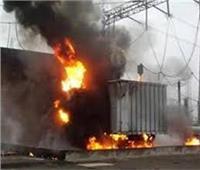 إخماد حريق بمحول كهربائي في أسوان