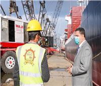 تداول 1.5 مليون طن بضائع و2600 حاوية بميناء دمياط خلال نوة الطقس السيئ