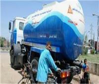 سيارات مياه الشرب تتواجد بالأماكن المتأثرة بانقطاع الخدمة في الجيزة