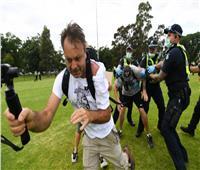 اشتباكات بين الشرطة الاسترالية والمعترضين على تلقي لقاح كورونا