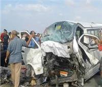 مصرع 4 أشخاص وإصابة 2 آخرين على «طريق الموت» بأسيوط