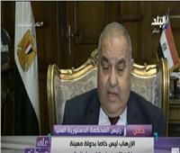 رئيس المحكمة الدستورية: «العدالة المصرية بخير» | فيديو