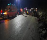 مصرع وإصابة 8 أشخاص في حادث تصادم بالأقصر
