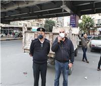تحرير 945 محضر إشغال طريق بالجيزة