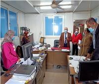 رئيس «مياه المنوفية» يتفقد سير العمل بديوان الشركة