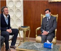 وزير الرياضة يحضر مباراة بيراميدز وراسينج كلوب