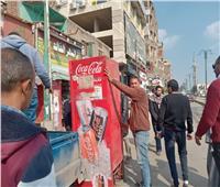 حملات إشغالات موسعة بمنشأة القناطر في الجيزة