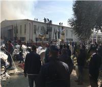 أول صور لحريق مصنع «مناديل» بمدينة السادات