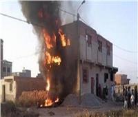 السيطرة على حريق اندلع بمنزل بكفر شكر في القليوبية