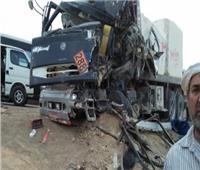 مصرع 3 أشخاص في حادث تصادم بطريق دار السلام الشرقي بسوهاج