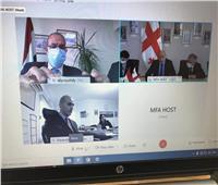 السفير عبدالعاطي يعقد جلسة مشاورات مع نائب وزير الخارجية الجورجي