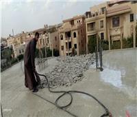 استمرار حملات إزالة مخالفات البناء بالقاهرة الجديدة
