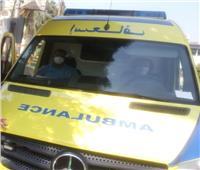 إصابة 8 أفراد إثر حادث تصادم بين سيارتين ميكروباص بمدينة السادات