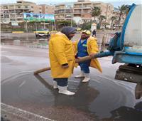 محافظة الإسكندرية تواصل رفع تراكمات مياه الأمطار من الأحياء