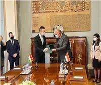 شكري ونظيره المجري يوقعان مذكرة تفاهم للتعاون المشترك| صور
