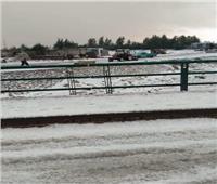 أمطار غزيرة وثلوج تغطي الإسماعيلية | فيديو