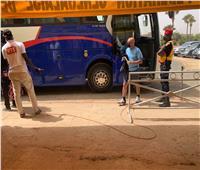 حافلة الزمالك تصل ملعب مواجهة تونجيت السنغالي