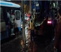 محافظ القليوبية يتابع تصريف مياه الأمطار على طريق مصر الإسكندرية الزراعي