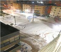 الثلوج تغطى دمياط وسيناء .. والرياح تغلق ميناء الصيد ببورسعيد