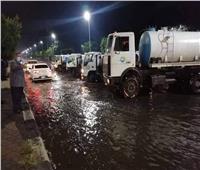 «رئيس مياه القناة»: مستمرون في إزالة آثار الأمطار من المناطق المنخفضة