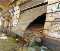 انهيار جزئي لمنزل خالي من السكان في طنطا