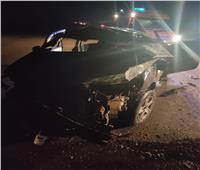 مصرع عامل وإصابة 2 أخرين في حادث إنقلاب سيارة بالسويس