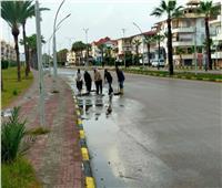 استمرار الطقس غير المستقر.. وجهود مكثفة لإزالة أثار الأمطار بدمياط