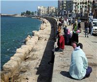 صور| تحسن نسبي في حالة الطقس بالإسكندرية