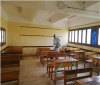 صور| تعقيم اللجان بالوادي الجديد استعدادا لامتحانات منتصف العام