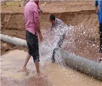 كسر خط «سفاجا- القصير» الجديد يتسبب في توقف ضخ المياه