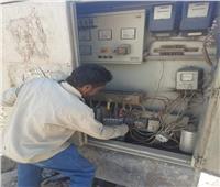 صيانة محول كهرباء ووقف بناء مخالف بأسوان