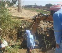 إصلاح تسريب محبس مياه أبو سمبل بأسوان