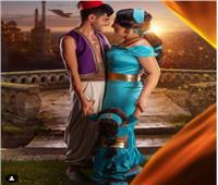 على طريقة علاء الدين .. حمدى الميرغنى ينشر صورة جديدة مع زوجته
