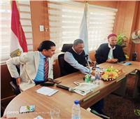 محافظ مطروح يلتقي وفد الاتحاد المصري للمينى فوتبول بسيوة