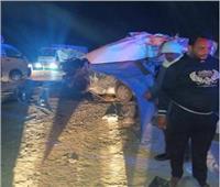 مصرع وإصابة 5 أشخاص بحادث تصادم سيارة نقل بميكروباص في «بني سويف»