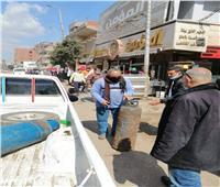 إزالة فوريةلـ160 حالة إشغال طريق وتحرير 15 محضرًا بالمنوفية