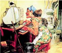 الخادمة والكمبيوتر.. وبينهما «جردل»!