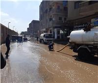 استمرار أعمال رفع تجمعات مياه الأمطار في البدرشين