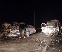 مصرع سائق وإصابة 2 آخرين في حادث تصادم سيارتين بأسيوط