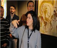 جومانا مراد تفتتح معرض مصر الدولي للفنون وتشارك بـ45 لوحة | صور