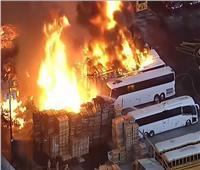 اندلاع حريق هائل جنوب لوس أنجلوس..فيديو