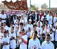وزير الرياضة يشهد مهرجان الرياضة للجميع لأبناء الواحات البحرية