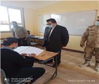 مدير تعليم جنوب سيناءيتفقد مدرستي رأس سدر الصناعية العسكرية والسادات التجارية