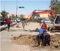 بدء مشروع إحلال وتجديد شبكات الصرف الصحى بكورنيش النيل والشوارع الداخلية بأسوان