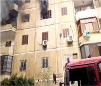 النيابة تعاين حريق شقة سكنية بالسلام
