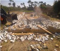 إزالة 3 حالات تعدٍ على أرض زراعية بالبر الغربي في الأقصر