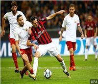 موعد مباراة قمة إيطاليا بين روما وميلان