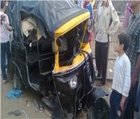 مصرع سائق وطفلة في انقلاب «توكتوك» بعين شمس