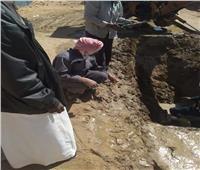 كسر ماسورة مياه رئيسية بـ«أبو سمبل» بأسوان