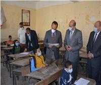 نائب محافظ المنيا يتابع سير امتحانات منتصف العام بعدد من اللجان